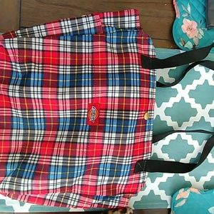 Dickies Plaid Tote
